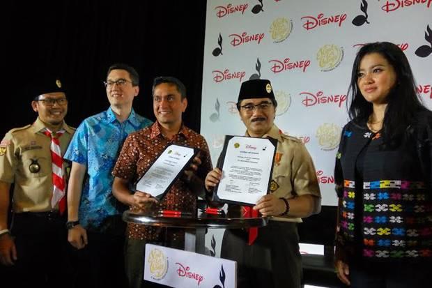 Gerakan Pramuka Bersama The Walt Disney Company Southeast Asia Bekerja Sama Menggelar Program Kerelawanan Sosial dengan Tajuk Time Please!